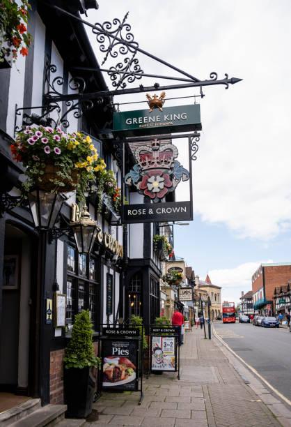Greene King Rose & Crown Pub in Stratford-upon-Avon stock photo