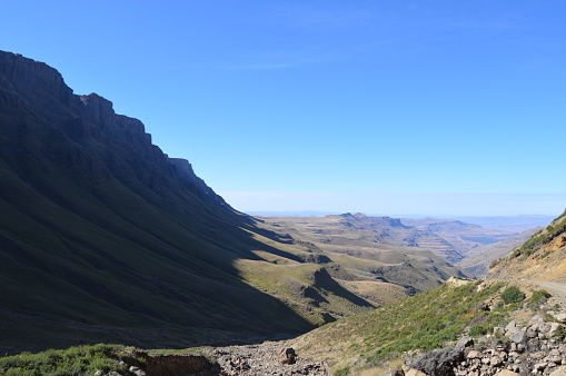 istock Greenery in Sani pass under blue sky near Lesotho South Africa border 1131846166