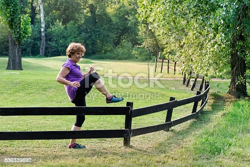 istock Greenery with an active senior woman 836339692