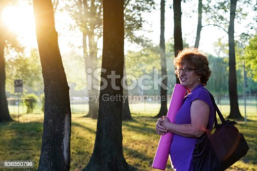 istock Greenery with an active senior woman 836350796
