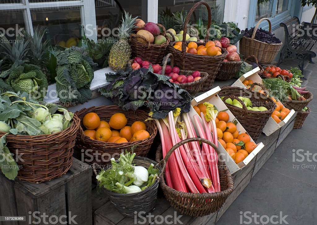 Greengrocer's display royalty-free stock photo