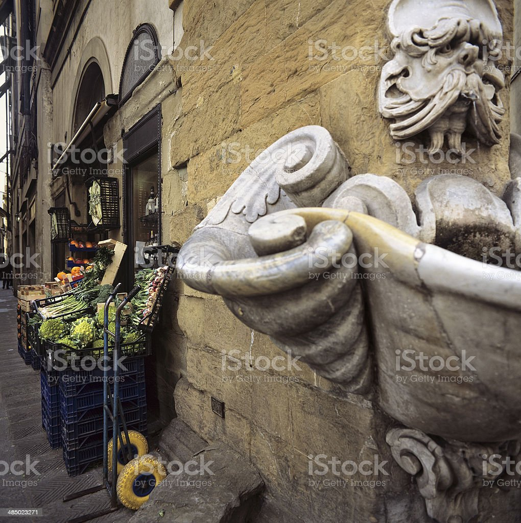 Greengrocer's in Florence's historic centre royalty-free stock photo