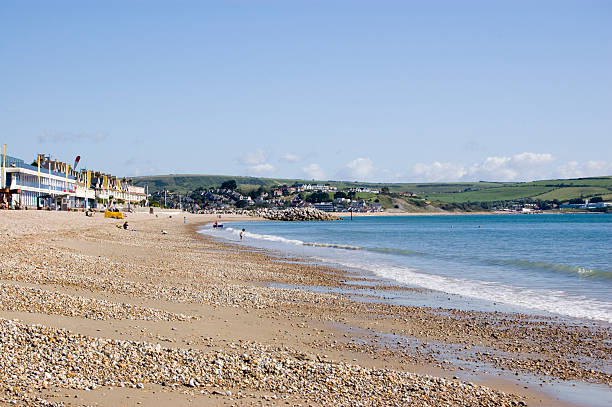greenhill beach, weymouth - weymouth stock photos and pictures