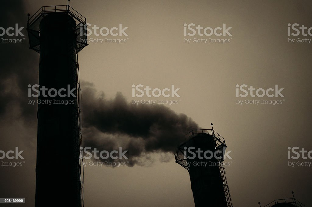 Greenhouse effect. Air pollution toxic emissions stock photo