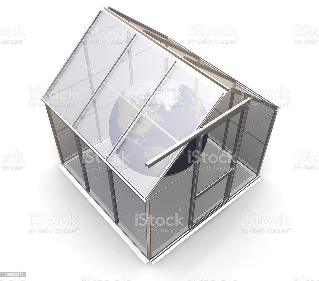 Greenhouse effect royalty-free stock photo