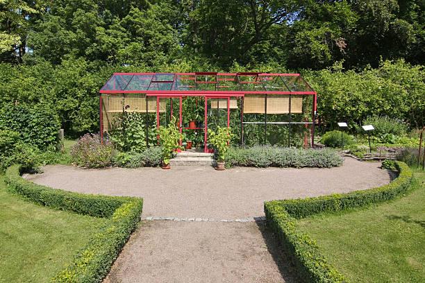 Greenhouse in Garden bildbanksfoto