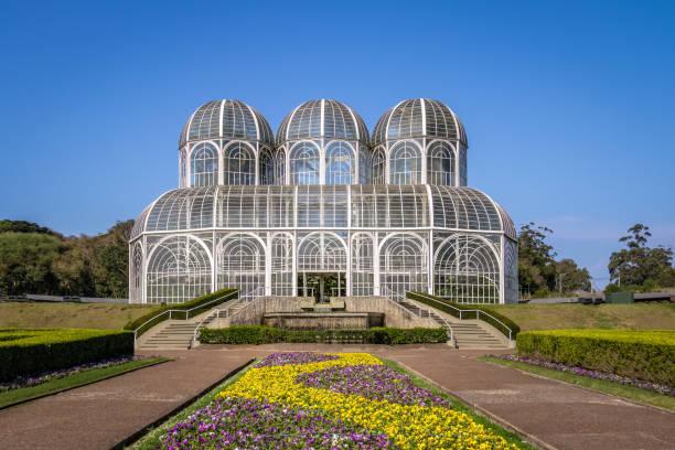 greenhouse of curitiba botanical garden - curitiba, parana, brazil - curitiba stock photos and pictures