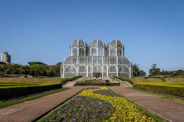 Greenhouse of Curitiba Botanical Garden - Curitiba, Parana, Brazil stock photo