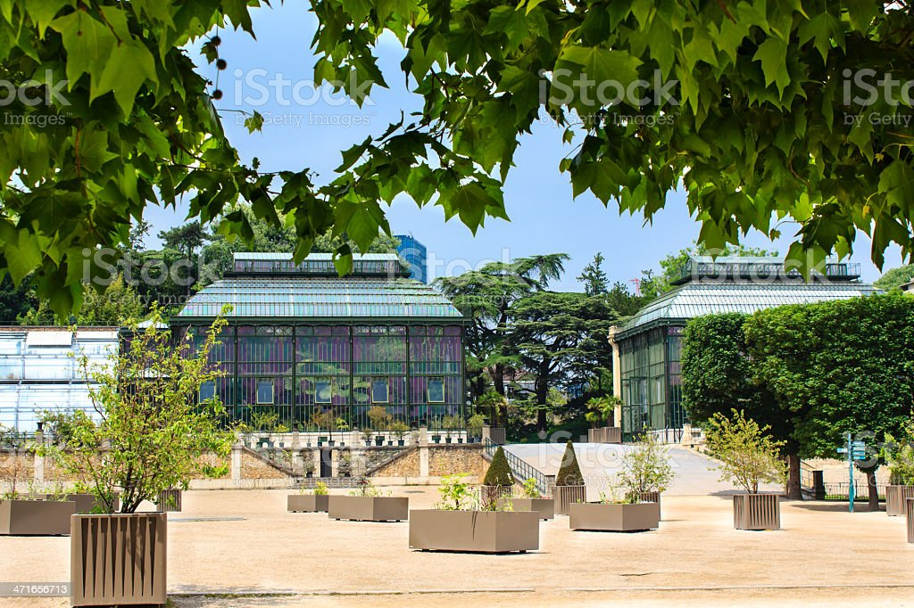 Jardin des Plantes greenhouses royalty-free stock photo