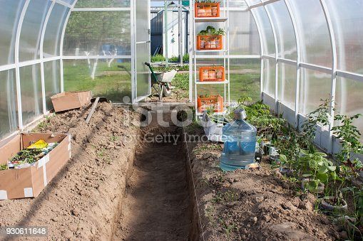 istock Greenhouse view from the inside 930611648