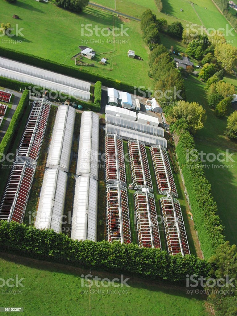 Greenhouses aerial view royalty-free stock photo