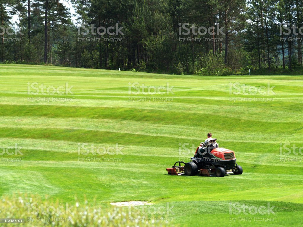 Greenkeeper stock photo