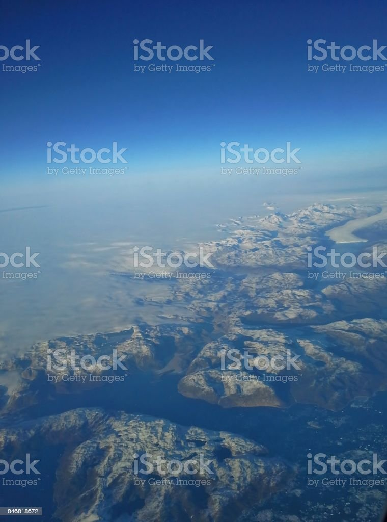 Greenland Aerial View With Curvature Of The Earth Stock Photo & More