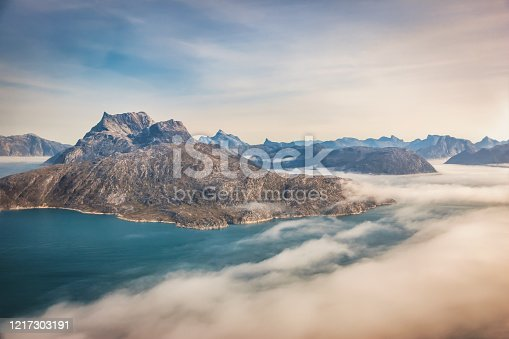 istock Greenland Fjords West Coast Helicopter Aerial View 1217303191
