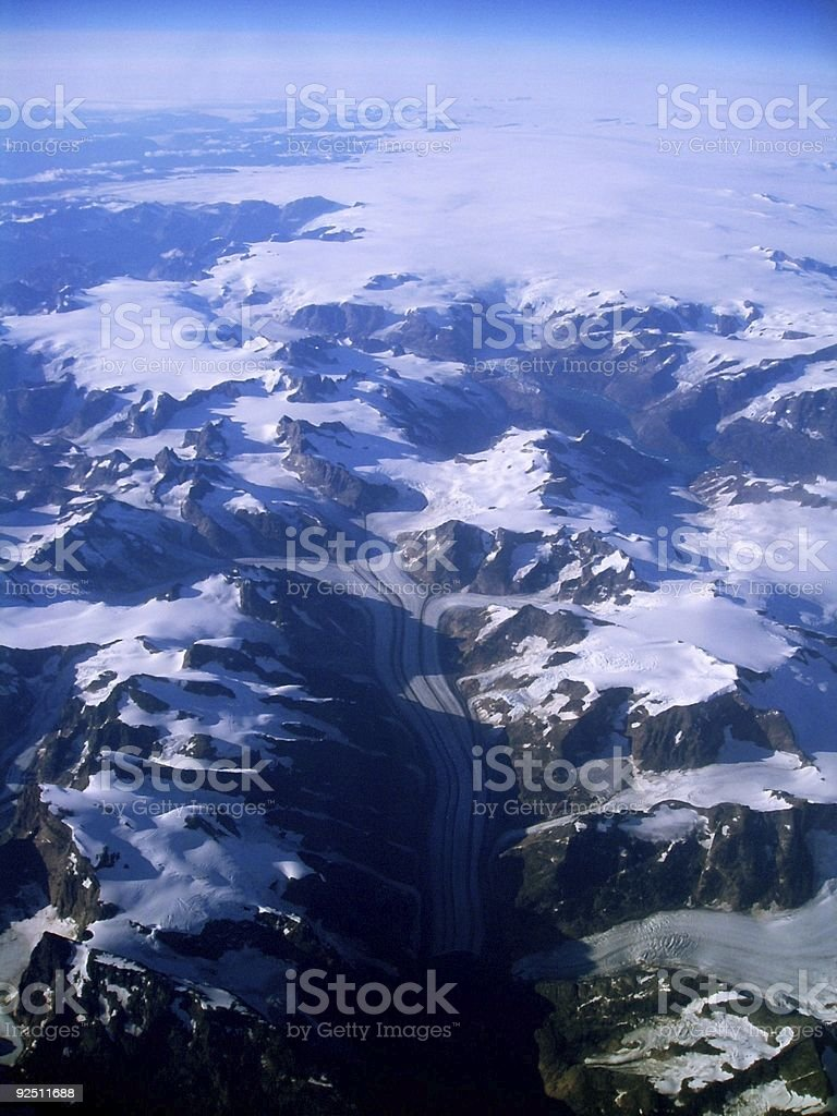 Greenland From the Air 2 royalty-free stock photo