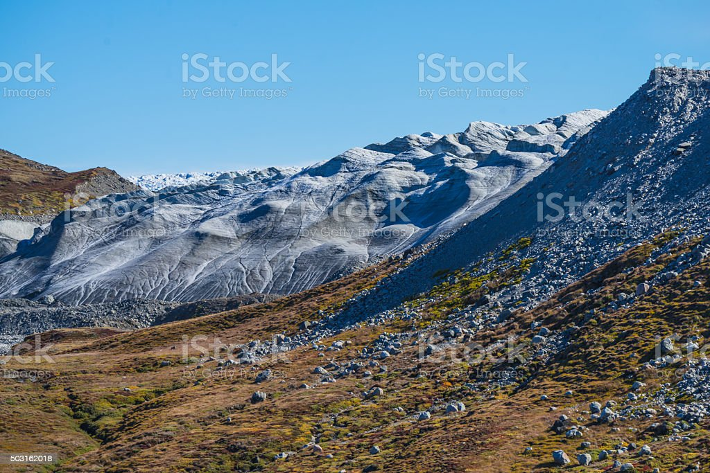 Greenland ice sheet stock photo
