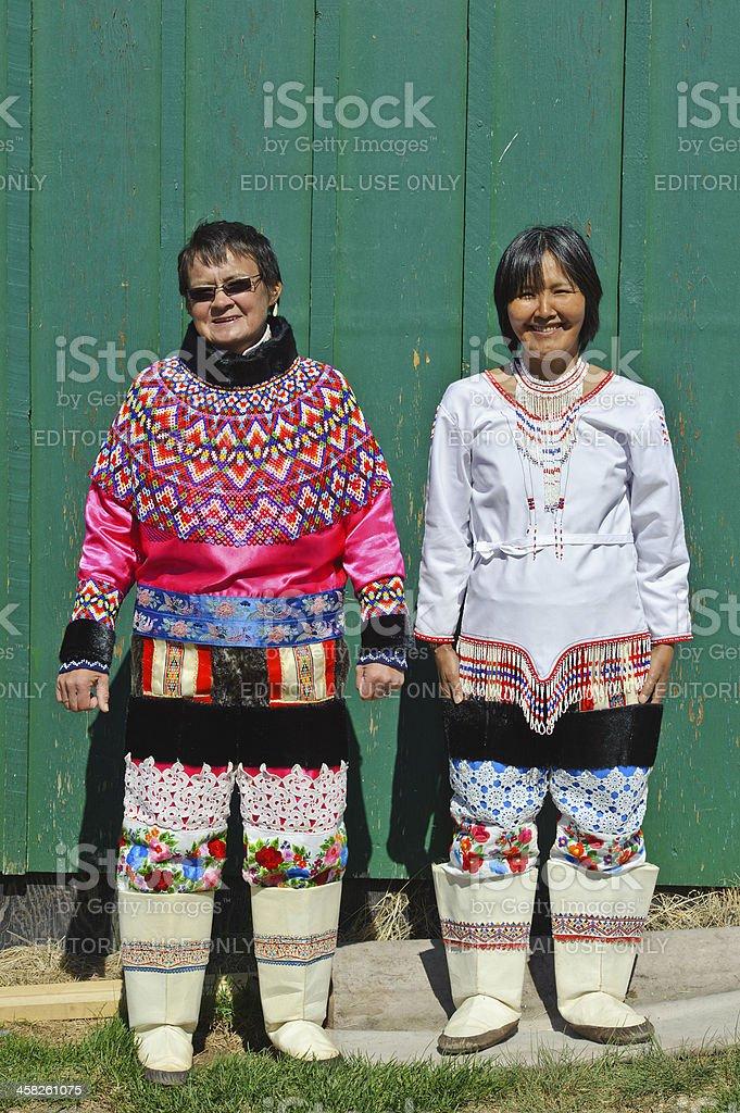 Greenland national costume stock photo