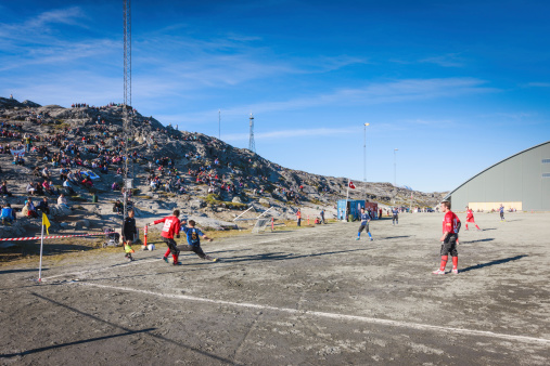 Greenland Soccer Championship In Nuuk Godthab Stock Photo - Download Image Now