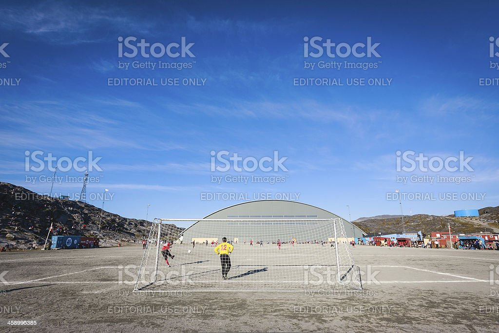 Greenland Soccer Championship Nuuk against Ilulissat royalty-free stock photo