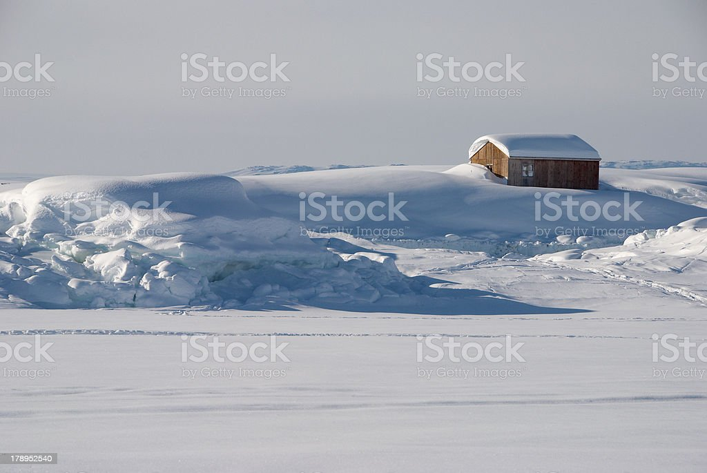 Greenland's house royalty-free stock photo