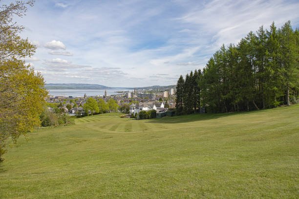 Greenock golf course stock photo