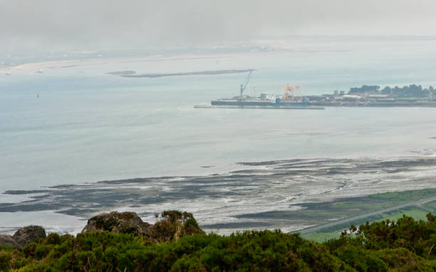 Greenore Town and Deepwater Port stock photo