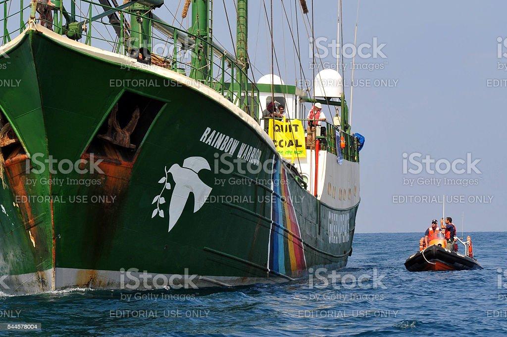 Greenpeace activists stock photo