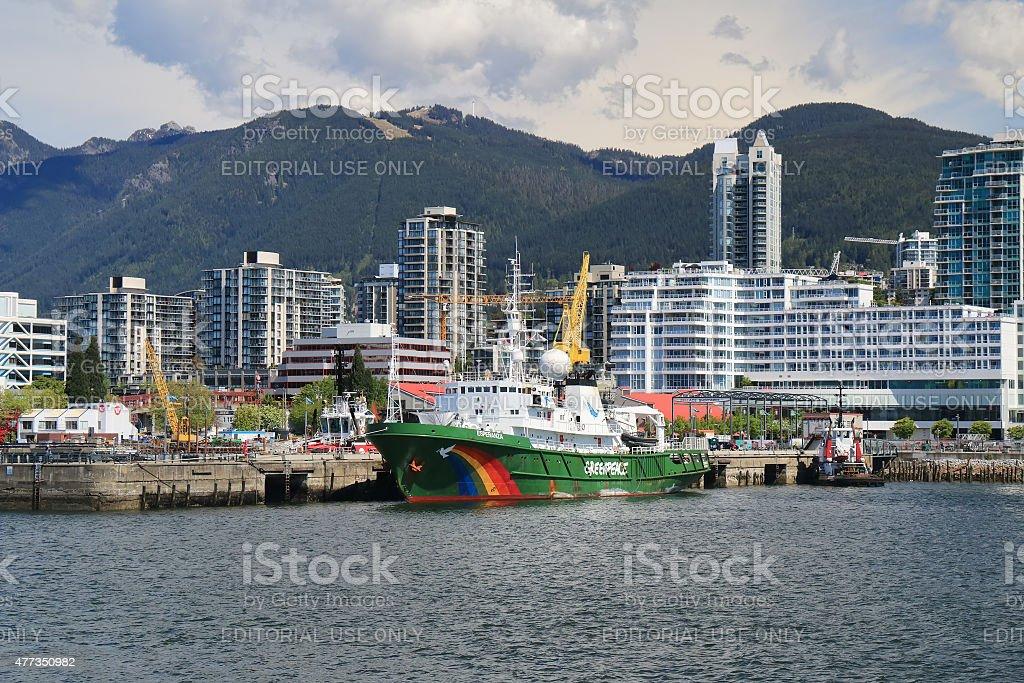 Greenpeace Esperanza vessel stock photo
