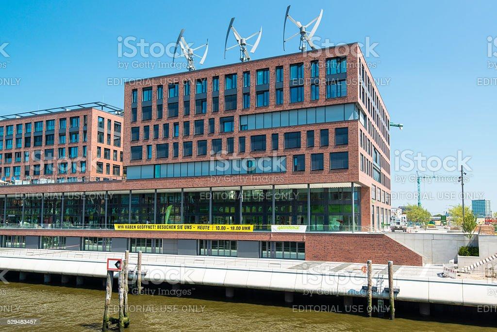 Greenpeace German Headquarters in Hamburg stock photo