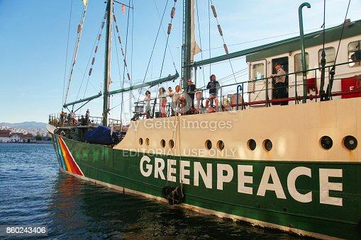 Izmir, Turkey - May 03, 2010: The Greenpeace's vessel the