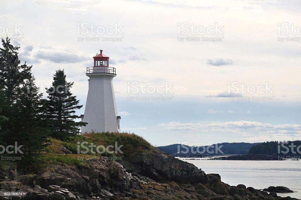 Greens Point Lighthouse (LEtete Passage Light) stock photo