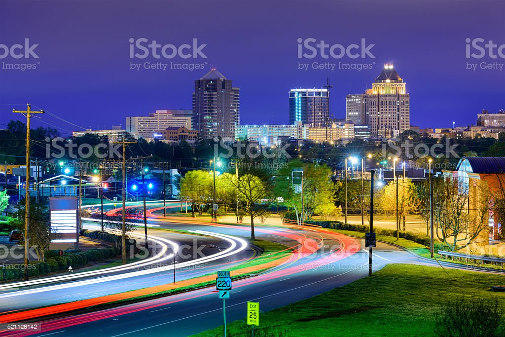 Greensboro North Carolina royalty-free stock photo