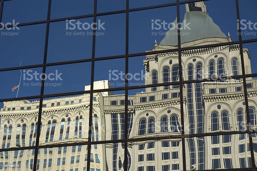 Greensboro Reflection stock photo