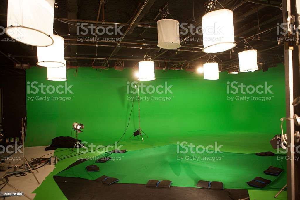 Greenscreen Studio stock photo