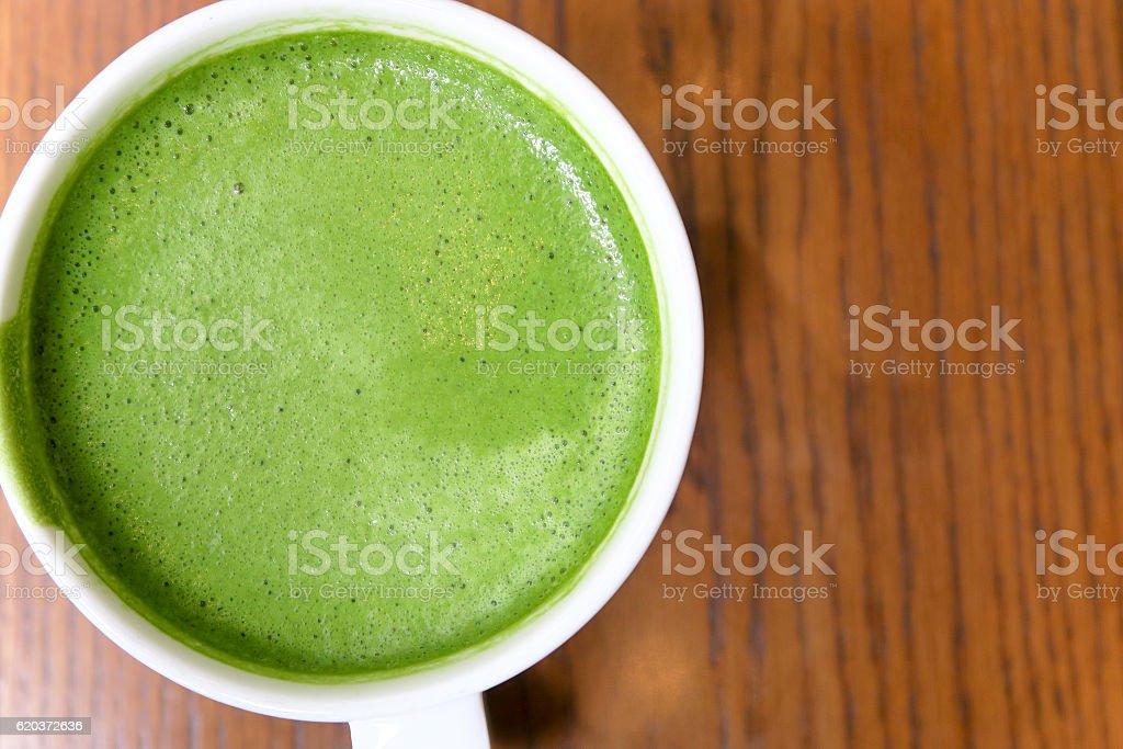 latte Greentea matcha zbiór zdjęć royalty-free