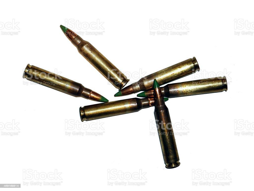 Green-Tip M855 5.56 Ammunition stock photo