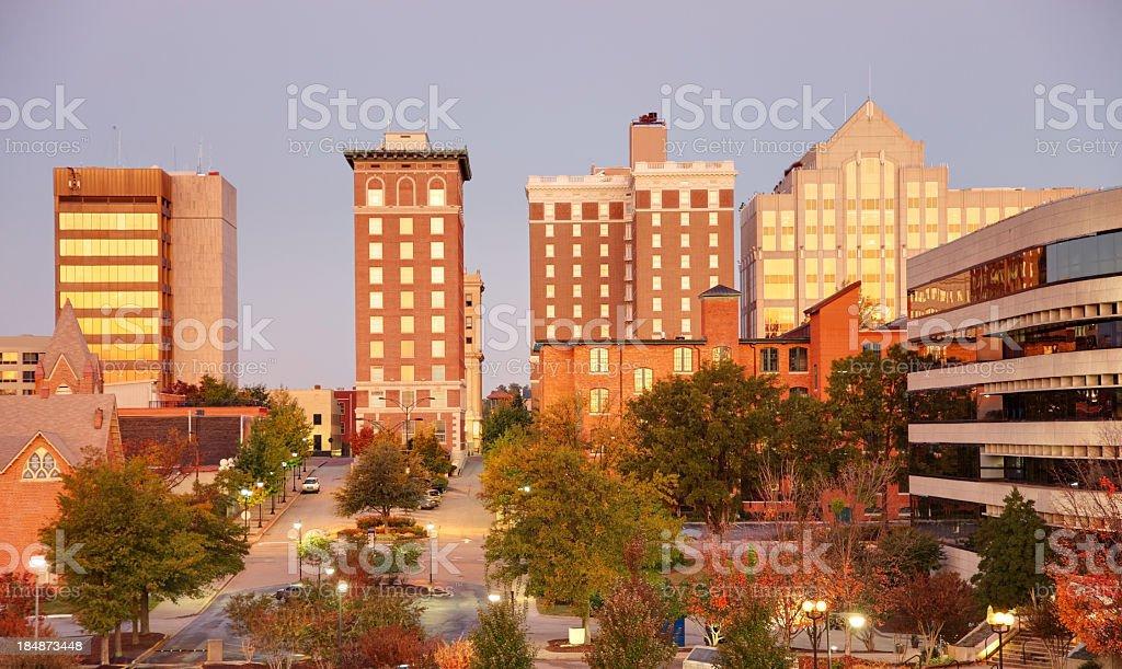 Greenville Skyline royalty-free stock photo