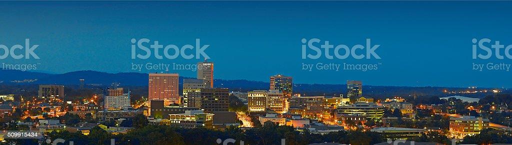 Greenville, South Carolina Skyline stock photo