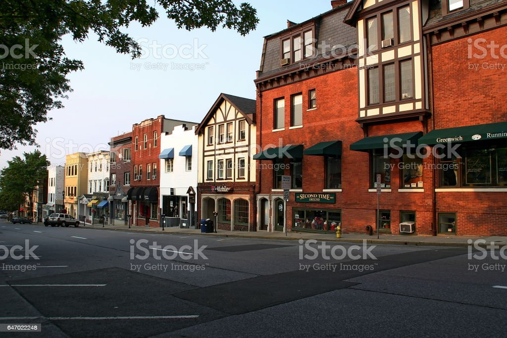 Greenwich Avenue stock photo