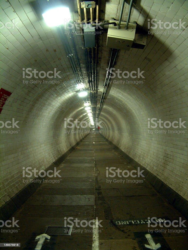 Greenwich Foot Tunnel stock photo