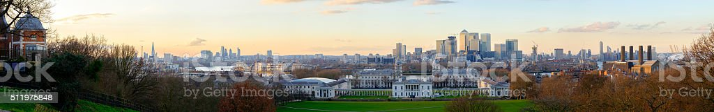 Greenwich London Panoramic stock photo