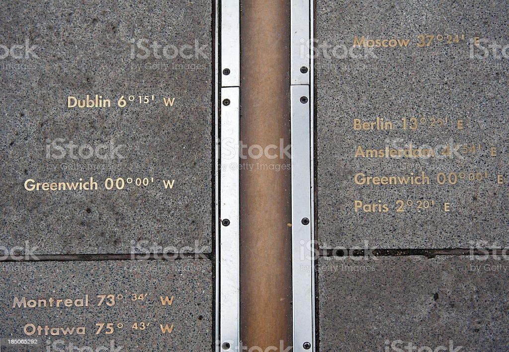 Greenwich Meridian stock photo