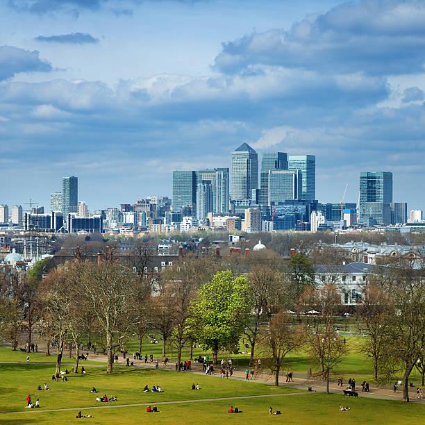 Greenwich park in London stock photo