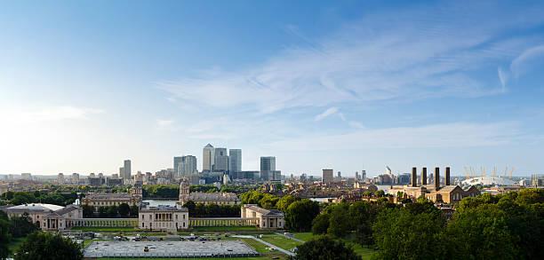 Greenwich Park, spektakulärer Blick auf London bei Sonnenuntergang – Foto