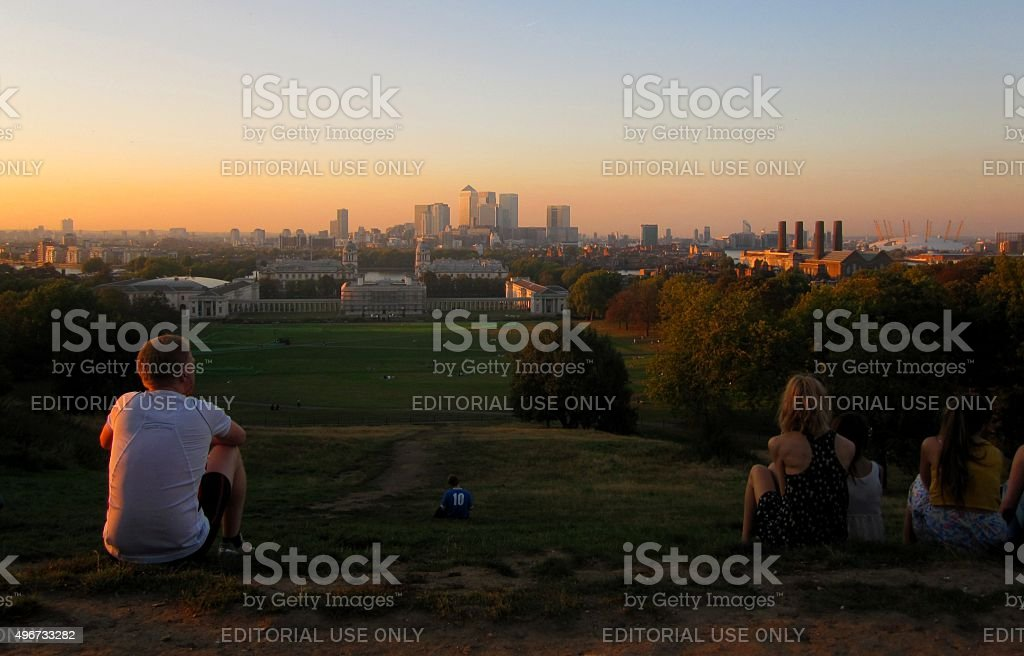 Greenwich Park Sunset stock photo
