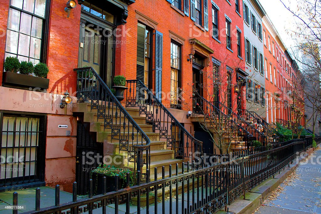 Greenwich Village Houses stock photo