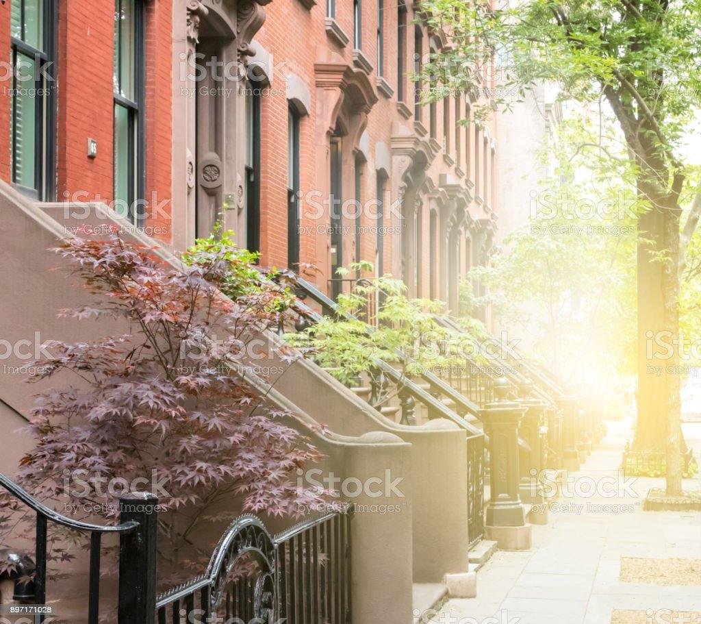 Greenwich Village scene in Manhattan New York City stock photo