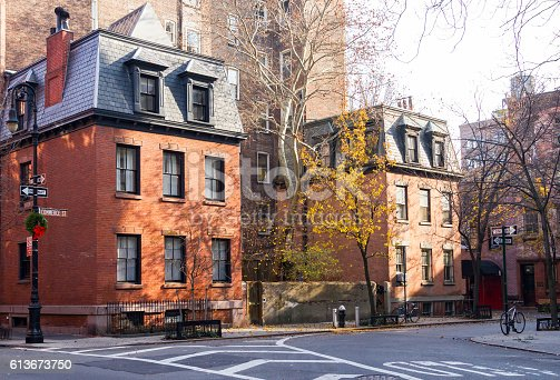 Commerce Street scene in the historic Greenwich Village neighborhood of Manhattan in New York City