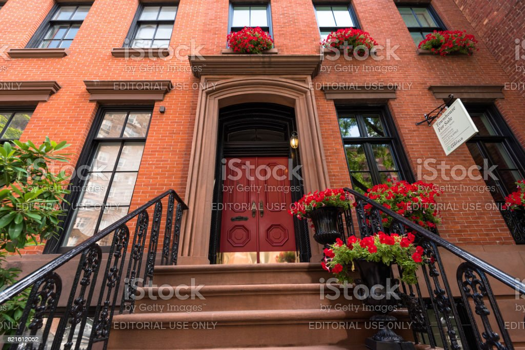 A Greenwich Village Townhouse royalty-free stock photo