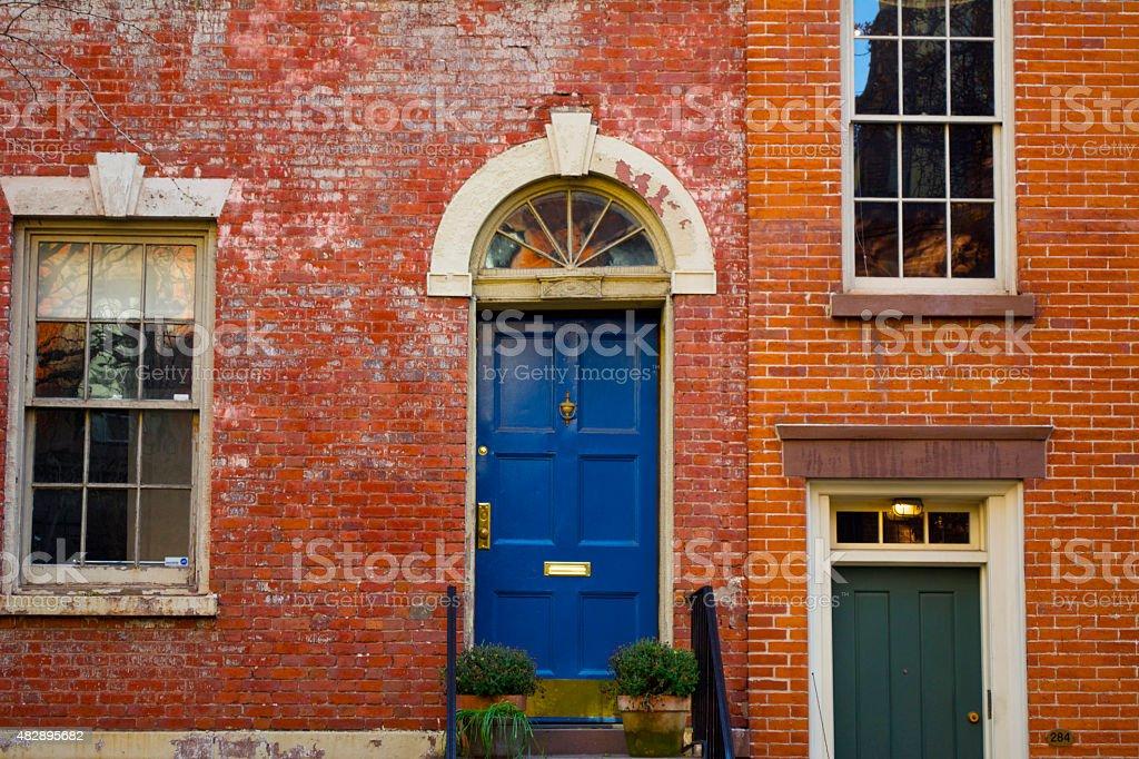 Greenwich Windows stock photo
